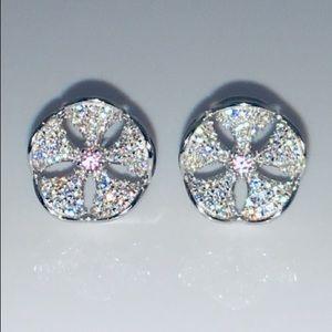 S925 Sand Dollar 11mm AAA Swiss Pink Sapphire
